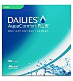 Dailies AquaComfort Plus Toric Tageslinsen weich, 90 Stück / BC 8.8 mm / DIA 14.4 mm / CYL -1.25 / ACHSE 90 / -1.5 Dioptrien