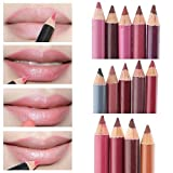 Lsv-8 12st Lipliner Lippenstift Lippenkonturenstift Lip Liner professionellen wasserfest wasserdichte Make-up Lip Liner Pencil Set