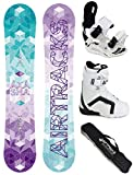 AIRTRACKS SNOWBOARD SET - BOARD AKASHA LADY 150 - SOFTBINDUNG STAR W - SOFTBOOTS STRONG W ATOP 40 - SB BAG