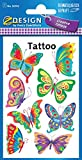 Avery Zweckform 56742 Kinder Tattoos Schmetterling 8 Aufkleber