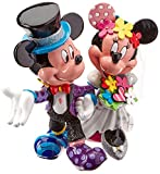 Enesco Disney Britto Mickey and Minnie-Figur Brautpaar, 19 cm, Kunstharz, mehrfarbig, 17 x 17 x 19 cm