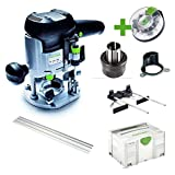 Festool Oberfräse OF 1010 EBQ Set + Box-OF-S8/10xHW Systainer Sys 3 574384