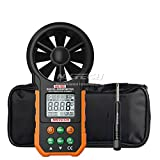 nktech nk-w5 Digital Anemometer Wind Speed Meter Air Flow Volumen Ambient mit der Temperatur Luftfeuchtigkeit LCD Display USB Daten Upload Hintergrundbeleuchtung 9999 Zählen und tl-1 Schraubendreher