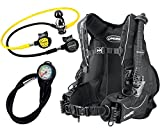 Cressi Travel Int Scuba Set, Schwarz, XL