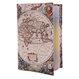 ECO Leather passport cover! Cute passport holder for travel! Designer passport case for men and women! ECO leather passport cover best gift for journey! (ancient map)