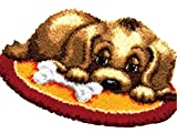 Knüpfkissen Latch Hook Kit 50cm Rug Dog010
