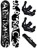 AIRTRACKS SNOWBOARD SET - BOARD REFRACTIONS GAME WIDE 165 - SOFTBINDUNG SAVAGE L - SB BAG