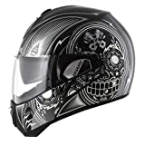HE9348EKUKM - Shark Evoline S3 Mezcal Chrome Flip Front Motorcycle Helmet M Black Chrome Black (KUK)