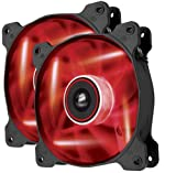 Corsair CO-9050016-RLED Air Series AF120-LED Quiet Edition 120mm High Airflow LED Lüfter, Rot