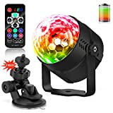 LED Lichteffekte Disco Party Licht LED Bühnenlicht Tanzabend-Licht Partybeleuchtung Magic Ball mit Tonsteuerung Stimmungslicht 5W,7 Farben RGB Waitiee für Hochzeit Feste Dekoration Bars Club Party, Indoor und Outdoor(mit Fernbedienung)(mit batterie)