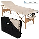 Kinetic Sports MB01 Massageliege Creme 3-Zonen inklusive Tragetasche