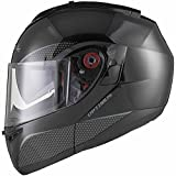 Black Optimus SV Motorrad Roller Klapphelm XXL Gloss Black