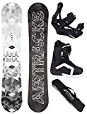 AIRTRACKS SNOWBOARD SET - BOARD AKASHA WIDE 159 - SOFTBINDUNG SAVAGE - SOFTBOOTS STRONG 44 - SB BAG