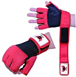 RedX Boxen Gel MMA Grappling-Handschuhe Neopren Handgelenk Support Wraps MMA, innere Glovers, Boxsack (rot, Small/Medium)