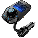 Bluetooth FM Transmitter, OMORC KFZ Auto Radio Adapter Auto Bluetooth Freisprecheinrichtung Bluetooth USB Auto-Ladegerät Car Mp3 Player Bluetooth Car Kit mit 2 USB Ladegerät, 1,44-Zoll-Bildschirm in 270 Grad, Einschalten / Ausschalten-Schwarz