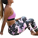 Capri Pants, Switchali Frauen Skinny Leggings Patchwork Mesh Yoga Leggings Fitness Sport Capri Hosen (Schwarz, M)
