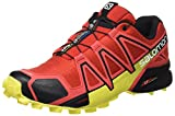 Salomon Speedcross 4 Herren Trailrunning-Schuhe, Radiant Red/Black/Corona Yellow, 44 EU