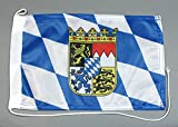 Bootsflagge Bayern 20 x 30 cm in Profiqualität Flagge Motorradflagge