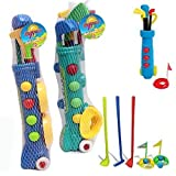 KIDS PLASTIC GOLF CLUB TOY CART CADDY SET BALLS BAG SUMMER GARDEN BEACH OUTDOOR by Guaranteed4Less