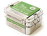 ECOlunchbox Three-in-One, 3-teilige Brotdose aus Edelstahl | Lunchbox | Bento Box