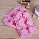 1Pcs 3D Mond Schimmel Ice Tray Kinder Schokolade Silikon Cake Pop-Out Fondant Baking Mould zufällige Farbe