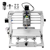 Beautystar CNC DIY Router Engraving Machine, Working Area 240*170*65mm, PCB Milling Machine CNC Wood Metal Carving Mini Engraving Router PVC+C16-ER11-35L 5MM Extension Rod+ER11Chuck 5mm