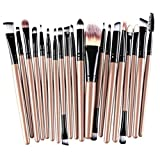 Hosaire Pro Make-up-Pinsel-Set, 20-teilig, für Lidschatten Eyeliner Lippen Puder Foundation