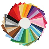 KING DO WAY 42 Farben Filz Stoff Polyester handmade Filzstoff Bastelfilz DIY Stoff Sewing Multicolore 15x15cm