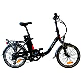 AGOGS LowStep 20 Zoll Elektrofahrrad faltbares Cityrad mit Alurahmen Bafang Motor H-type, 36V/250W (500W max) SONY Konion V3 Hi-power 36V/11Ah 400Wh Akku MicroSHIFT DS85 7 Gang Schaltung E-Bike Pedelec