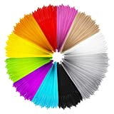 Mture 3D PrintFilament, Ink Filament PLA Filament 3D Stift Filament für 3D Drucker-Stift 3D Pen 3D Stift 3D Drucker 12 PCS 1,75 MM 5M