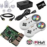 Raspberry Pi 3 16GB Retro Gaming Bundle with 2 SNES Style Controllers by The Pi Hut