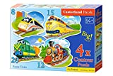 Castorland B043033 - Funny Trains, 4x Puzzle, 8+12+15+20 teile