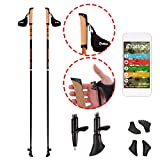 Nordic Walking Stöcke Carbon Light mit Handgelenkschlaufen (105 cm) | GRATIS - Nordic Walking/Fitness App