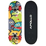 Apollo Kinderskateboard Monsterskate, kleines Skateboard für Kinder, 51 cm lang