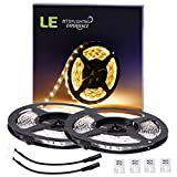 LE 2er Pack 12V DC flexibele LED Streifen, 5m LED Lichtband, LED Leisten led strip Warmweiß, 3000 K 300 Stück 3528 LEDs, Nicht wasserdicht, LED Lichtleisten, LED Band, LED Streifen, LED Strahler