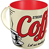 Nostalgic-Art 43022 USA - Strong Coffee Served Here | Retro Tasse | Kaffee-Becher | Geschenk-Tasse | Vintage Geschirr