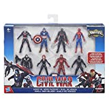 Hasbro – B8214 – Marvel: Captain America Civil War – Duell der Helden – Actionfiguren-Pack mit 8 Comic-Helden