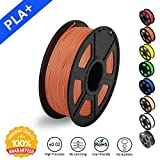 SUNLU 3D Printer Filament PLA Plus, 1.75mm PLA Filament, 3D Printing Filament Low Odor, Dimensional Accuracy +/- 0.02 mm, 2.2 LBS (1KG) Spool 3D Filament for 3D Printers & 3D Pens, Salmon Orange PLA+