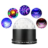 ALED LIGHT LED Licht Rotation Automatisch Bühnenbeleuchtung 15W RGB Sprachaktiviertes Kristall Magic Ball Bühnenlicht für Show DJ Disco Ballsaal KTV Stab Stadium Club Party