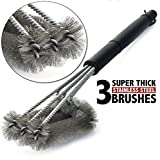 BBQ Grillbürste, Mospro, Barbecue Grill Cleaner Barbecue Cleaner Tools 18' 3 Stainless Steel Bristles in 1 360…