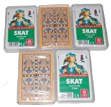 5 x Skat Skatkarten deutsches Blatt ASS Altenburger