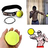 Fight Ball Reflex,BBTXS Training Boxing Boxing Punch Exercise Punchingball Set (Gelb)