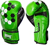 BOOM Prime Green Junior Leder Boxhandschuhe Kids Kampfsport Sparring Punch Bag Ausbildung MMA 8oz