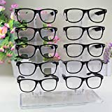 Charminer 10 Pair Acrylic Clear Sunglasses Glasses Display Rack Counter Show Stand Useful by Charminer