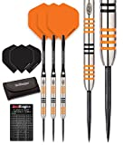 Red Dragon Amberjack 3: 22g – 90% Tungsten Darts (Steel Dartpfeile) mit Flights, Schäfte, Brieftasche & Red Dragon Checkout Card