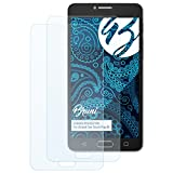 Bruni Alcatel One Touch Pop 4S Folie - 2 x glasklare Displayschutzfolie Schutzfolie für Alcatel One Touch Pop 4S