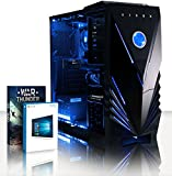 VIBOX Advance 8 Gaming PC - 4,2GHz AMD 8-Core Prozessor, GTX 1050 Ti GPU, Super, Multimedia, Hochleistung, Pascal, Desktop Gamer Computer mit Spielgutschein, Windows 10, Blau Innenbeleuchtung, lebenslange Garantie* (3,3GHz (4,2GHz Turbo) Superschneller AMD FX 8300 Octa-Core Prozessor CPU, Nvidia GeForce GTX 1050 Ti 4GB Grafikkarte GPU, 8GB DDR3 1600MHz RAM, 2TB (2000GB) SATA III 7200rpm Festplatte, 85+ Netzteil, Vibox Tactician blaues Gaming Gehäuse, AM3+ Mainboard)