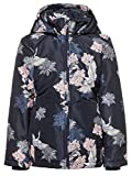 name it Kids Mädchen Jacke, Winterjacke MELLO KIMONO FLOWER in sky captain, Größe:116