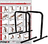 Powrx Dip Barren (Paar) | Push Up Stand Bar | Dip Station | Fitness Rack | Core Trainer (76 x 57 cm)