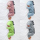 Piebo Baby Dinosaurier mit Kapuze Strampler Overall Outfits Kleidung